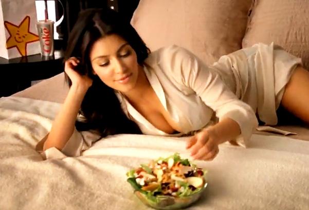 Kim Kardashian Carl's Jr. ad photo