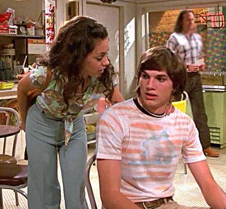 ashton kutcher mila kunis that 70s show season 1 television tv photo