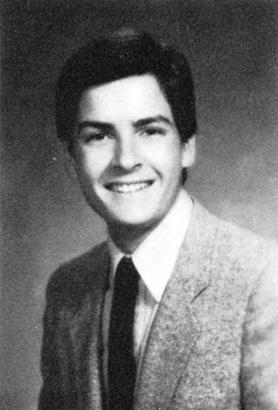 Original name carlos irwin estevez charlie sheen yearbook high school young 1983 thecheapjerseys Choice Image