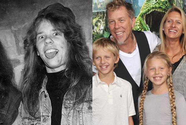 James Hetfield of Metallica in the 1980s and Now