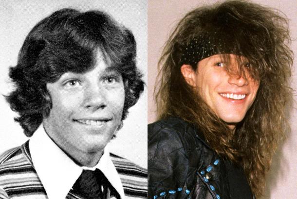 Jon Bon Jovi In 1977 And 1989