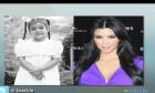 Kim Kardashian, young