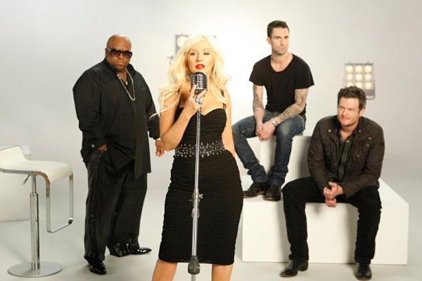 Christina Aguilera, Cee Lo, Adam Levine, Blake Shelton