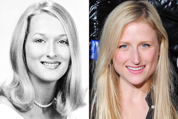 Meryl Streep Mamie Gummer yearbook high school daughter mother red carpet photo