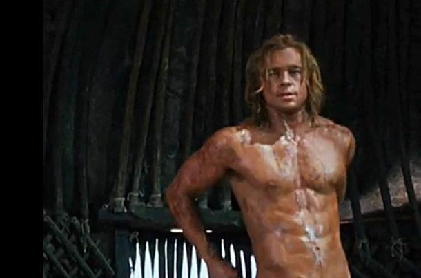 brat pitt with naked body