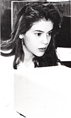 Alyssa Milano Junior Year, Buckley School, Sherman Oaks, CA, 1990