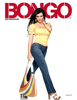 Kim Kardashian Bongo jeans ad photo