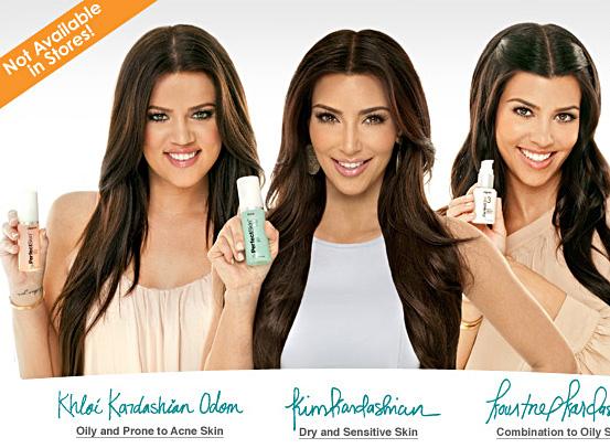 Kim Kardashian Perfect Skin ad photo