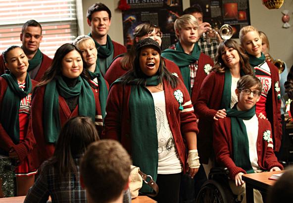 Glee Cast in Christmas Attire