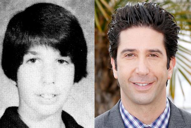 David Schwimmer, Senior Year Beverly Hills High School, 1984; David Schwimmer—Now